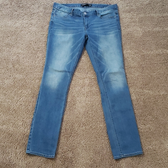 Low Rise Skinny Jeans-Long